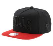 Rubber Wordmark Chicago BullsSnapback Cap Schwarz