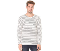 Orvar Pocket Graphic Stripe - Langarmshirt für Herren - Streifen