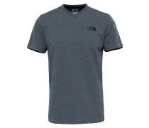 V-Neck - T-Shirt für Herren - Grau