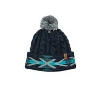 Cable Navajo - Mütze für Damen - Blau