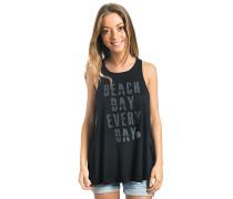 Beach Day Ribbed - T-Shirt für Damen - Schwarz