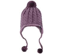 Fuzzy Earflap - Mütze für Damen - Lila