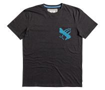 SHD Floral Pocket - T-Shirt für Herren - Schwarz