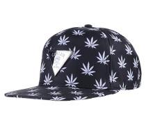 Budz N Stripes 2-Tone Snapback Cap - Schwarz