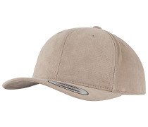 Brushed Cotton Twill Mid-ProfileCap Beige