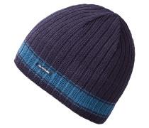 Ribbed PinlineMütze Blau