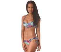 Blue Wings Bandeau - Bikini Oberteil für Damen - Mehrfarbig