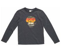 Cali Bear Stripes - Langarmshirt für Jungs - Grau