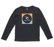 Square Logo - Langarmshirt für Jungs - Schwarz