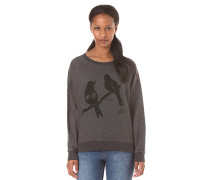 Love Birds Crewneck - Sweatshirt für Damen - Grau
