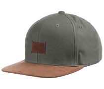 Suede 6-Panel Snapback Cap - Grün