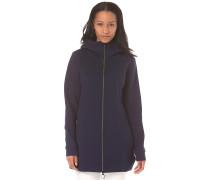 Long BD Pique - Kapuzenjacke für Damen - Blau