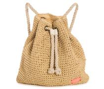 Bohemian Sands Straw Bp - Rucksack für Damen - Beige