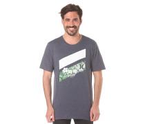 Icon Slash Floral Premium - T-Shirt für Herren - Blau