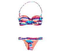 Bandeau - Bikini Set für Damen - Mehrfarbig