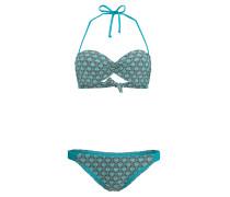 Paisley Molded Wire - Bikini Set für Damen - Blau