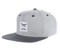 Flag Chambray Snapback Cap - Grau