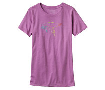 Live Simply Dove Cotton/Poly Crew - T-Shirt für Damen - Lila