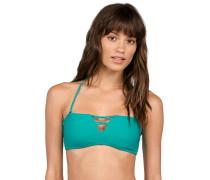 Simply Solid Bandeau - Bikini Oberteil für Damen - Blau