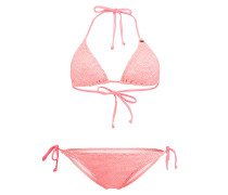 Structure Triangleangle - Bikini Set für Damen - Pink