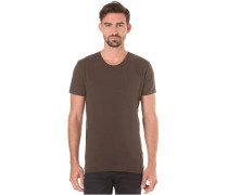 O-Neck - T-Shirt für Herren - Braun