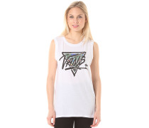 Palm Brush - T-Shirt für Damen - Weiß