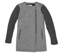 Superfleece - Kapuzenjacke für Mädchen - Grau
