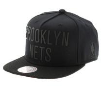 Rubber Wordmark Brooklyn NetsSnapback Cap Schwarz