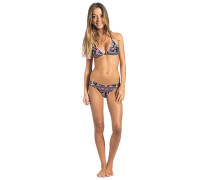 Flower Power Triangle - Bikini Set für Damen - Schwarz