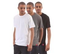 Multicolour 3 Pack - T-Shirt für Herren - Schwarz