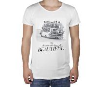 Waves R-Neck Long Back - T-Shirt für Herren - Weiß