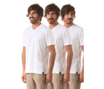 V Neck 3 Pack - T-Shirt für Herren - Weiß