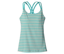 Cross Back - Top für Damen - Blau