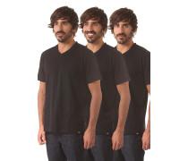 V Neck 3 Pack - T-Shirt für Herren - Schwarz