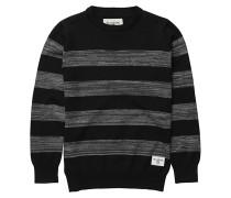 All Day Stripes - Strickpullover für Jungs - Schwarz