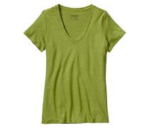 Necessity V-Neck - T-Shirt für Damen - Grün