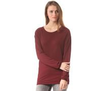 Lodato Melange Longsleeve - T-Shirt für Damen - Rot