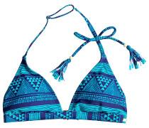 Fixed Triangle - Bikini Oberteil für Damen - Blau