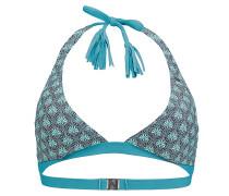Paisley Halter - Bikini Oberteil für Damen - Blau