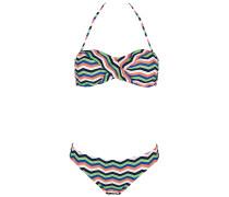 Ebony Bandeau - Bikini Set für Damen - Mehrfarbig