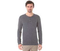 Shhtim L/S Split Neck - Langarmshirt für Herren - Blau