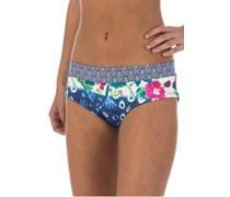 Shibori Shorty - Bikini Hose für Damen - Blau