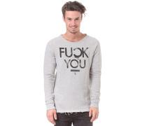 Fyou Laser Cut Sweatshirt - Grau