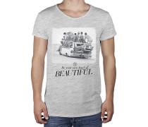 Waves R-Neck Long Back - T-Shirt für Herren - Grau