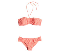 Bandeau/Base - Bikini Set für Damen - Orange