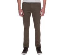 2X4 Twill 5 Pocket - Stoffhose für Herren - Grün