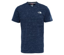 V-Neck - T-Shirt für Herren - Blau