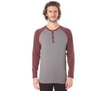 Rugged Henley - Langarmshirt für Herren - Grau