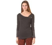 Asym Stripe Button - Langarmshirt für Damen - Grau