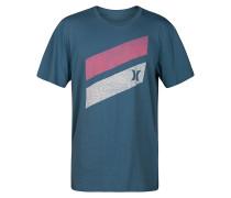 Icon Slash Push Through - T-Shirt - Blau
